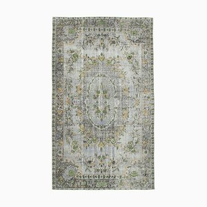 Grey Anatolian Hand Knotted Wool Overdyed Carpet