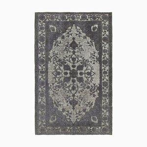 Türkischer Handgeknüpfter Grauer Türkischer Überfärbter Teppich
