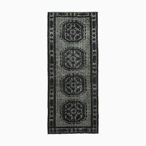 Black Decorative Handmade Wool Overdyed Carpet
