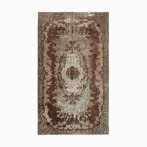 Brown Overdyed Handmade Wool Large Carpet
