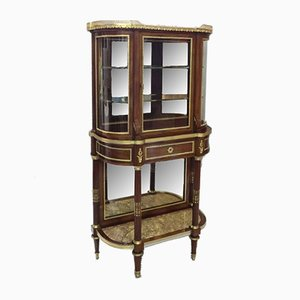19th Century French Mahogany Display Cabinet Attributed to Sormani, 1870s