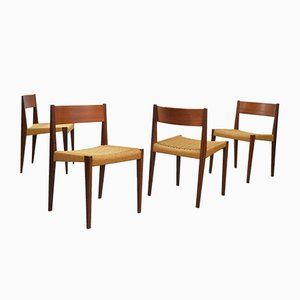 Pia Dining Chairs by Poul Cadovius for Cado, 1960s, Set of 4
