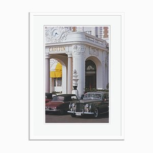 Slim Aarons, Carlton in Cannes Oversize C Print Framed in White