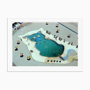 Slim Aarons, Cat-Shaped Pool Oversize C Print Framed in White