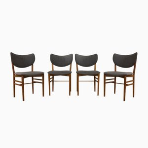 Mid-Century Oak Dining Chairs by Nils Eva Koppel for Slagelse Møbelværk, Set of 4