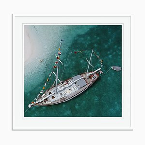 Slim Aarons, Charter Ketch Oversize C Print Framed in White