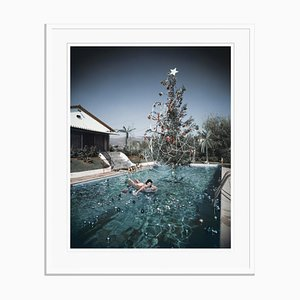 Slim Aarons, Christmas Swim Oversize C Print Framed in White