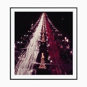Slim Aarons, Christmas Traffic Oversize C Print Framed in Black