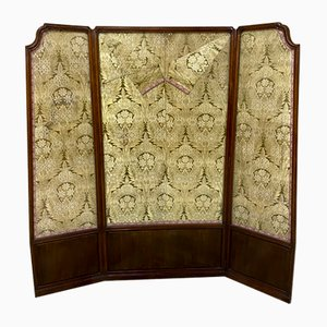 Vintage Oriental Silk 3-Fold Screen Room Divider