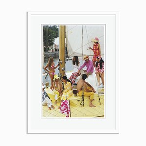 Slim Aarons, Colorful Crew Oversize C Print Framed in White