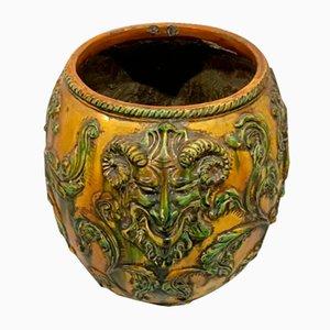 Vase aus glasierter Terrakotta, 1950er