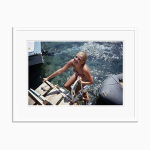 Slim Aarons, Come on in Oversize C Print Framed in White