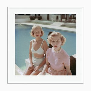 Slim Aarons, Connelly and Guest Oversize C Print Framed in White