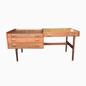 Scandinavian Double Sided Desk in the Style of Arne Vodder, 1960s