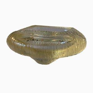 Schale oder Aschenbecher aus gelbem Glas von Archimede Seguso, 1950er