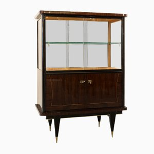 French Rosewood Showcase Cupboard, 1950s