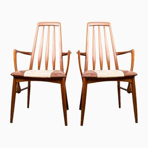Danish Teak Model Eva Dining Chairs by Niels Koefoed for Koefoeds Hornslet, 1960s, Set of 2