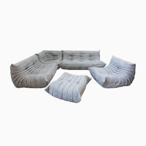 Togo Living Room Set by Michel Ducaroy for Ligne Roset, 1980s, Set of 5