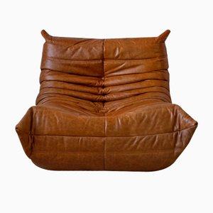 Vintage Togo Lounge Chair aus Kiefer und Leder von Michel Ducaroy für Ligne Roset