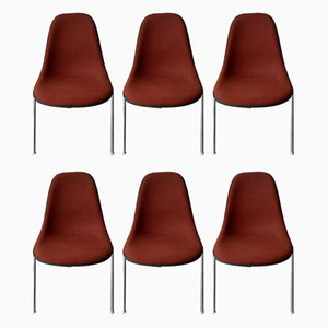 Vintage Stacking Office DSS Dining Chairs Herman Miller for Eames, Set of 6
