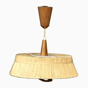 Large Raffia Hanging Lamp from Temde, 1960s