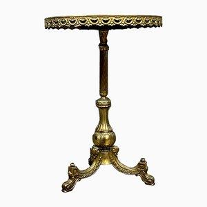 Antique Empire Bronze & Brass Console Table
