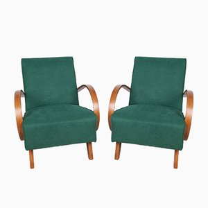Model 410 Armchairs by Jindřich Halabala for UP Závody, 1920s, Set of 2