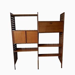 Escritorio tipo armario con estantería de pared de 2 bahías de Ladderax para Staples Cricklewood