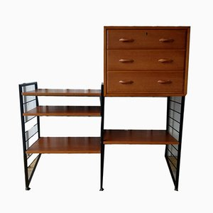 Small Ladderax 2 Bay Wall Shelving Storage Unit Desk with Key from Staples Cricklewood