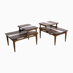Mid-Century Couchtische mit Zwei Ablageflächen, 1960er, 2er Set