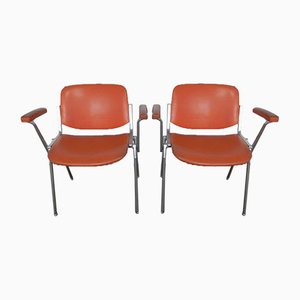 Stacking Chairs by Giancarlo Piretti for Castelli / Anonima Castelli, 1960s, Set of 2