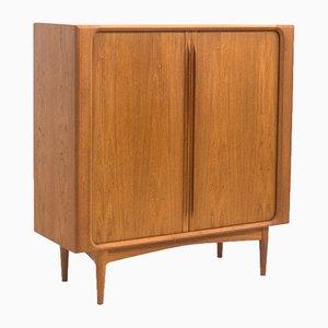 Mid-Century Teak Cabinet with Tambour Doors by Bernhard Pedersen for Bernhard Pedersen & Søn