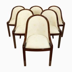 Vintage Art Deco French Dining Chairs, Set of 6