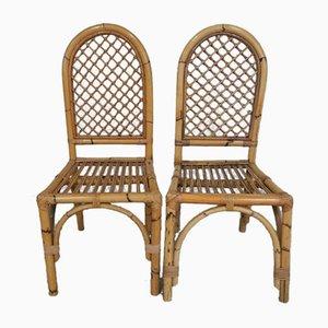 Bambus Stühle, Italien, 1970er, 2er Set
