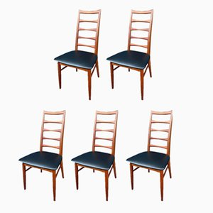 Teak Side Chairs by Niels Koefoed for Koefoeds Hornslet, 1960s, Set of 5