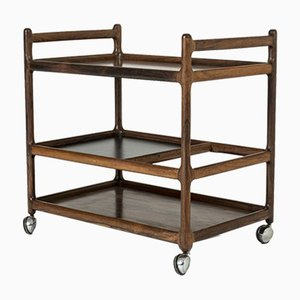 Danish Rosewood Trolley from CFC Silkeborg, 1950s