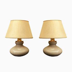 Murano Glas und Messing Tischlampen von VeArt, Italien, 1950er, 2er Set