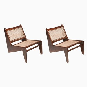 Kangaroo Lounge Chairs by Pierre Jeanneret, 1950s, Set of 2
