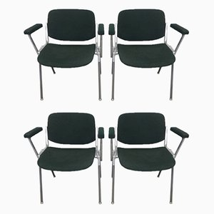 Desk Chairs by Giancarlo Piretti for Castelli / Anonima Castelli, 1970s, Set of 4