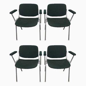 Sedie da scrivania di Giancarlo Piretti per Castelli / Anonima Castelli, anni '70, set di 4