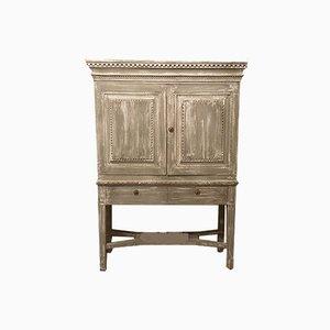 Gustavian Kitchen Cabinet with Fluting, 1823