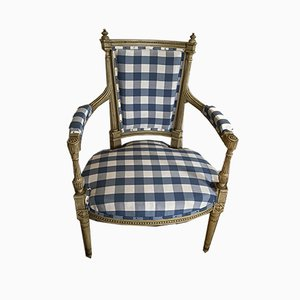 Gustavian Armchair with Special Carvings