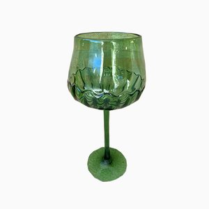 Mid-Century Decorative Green Cut Glass Cup, 1960s