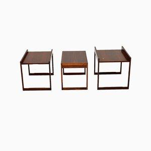 Tables Gigognes en Palissandre de CFC Silkeborg, 1960s, Set de 3