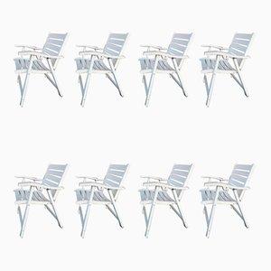 Chaises de Jardin en Bois Laqué de Flli Reguitti, 1960s, Set de 8