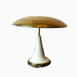 Vintage Italian Brass and Lacquer Ceiling Lamp from Lumi, 1950s