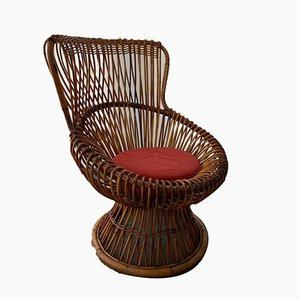 Wicker Model Margherita Armchair by Franco Albini, 1960s