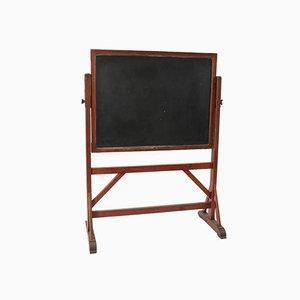 Large Pitch Pine Art Nouveau Blackboard Chalkboard, 1900s