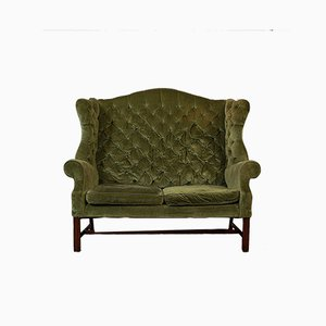 Antique High Wingback Sofa