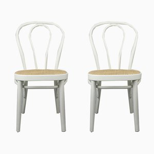 No. 218 White Chairs by Michael Thonet, Set of 2